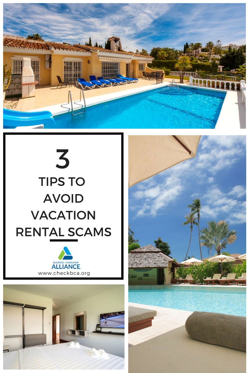 Avoid Vacation Rental Scams - Infographic