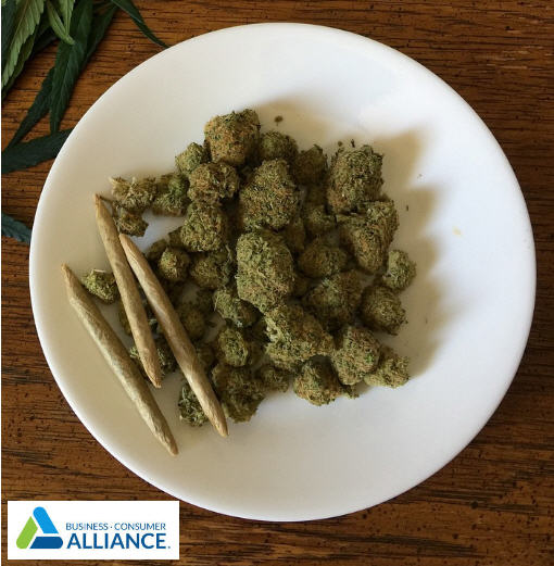 cannabis on plate
