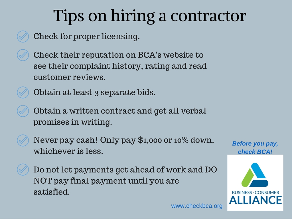Tips On Hiring A Contractor