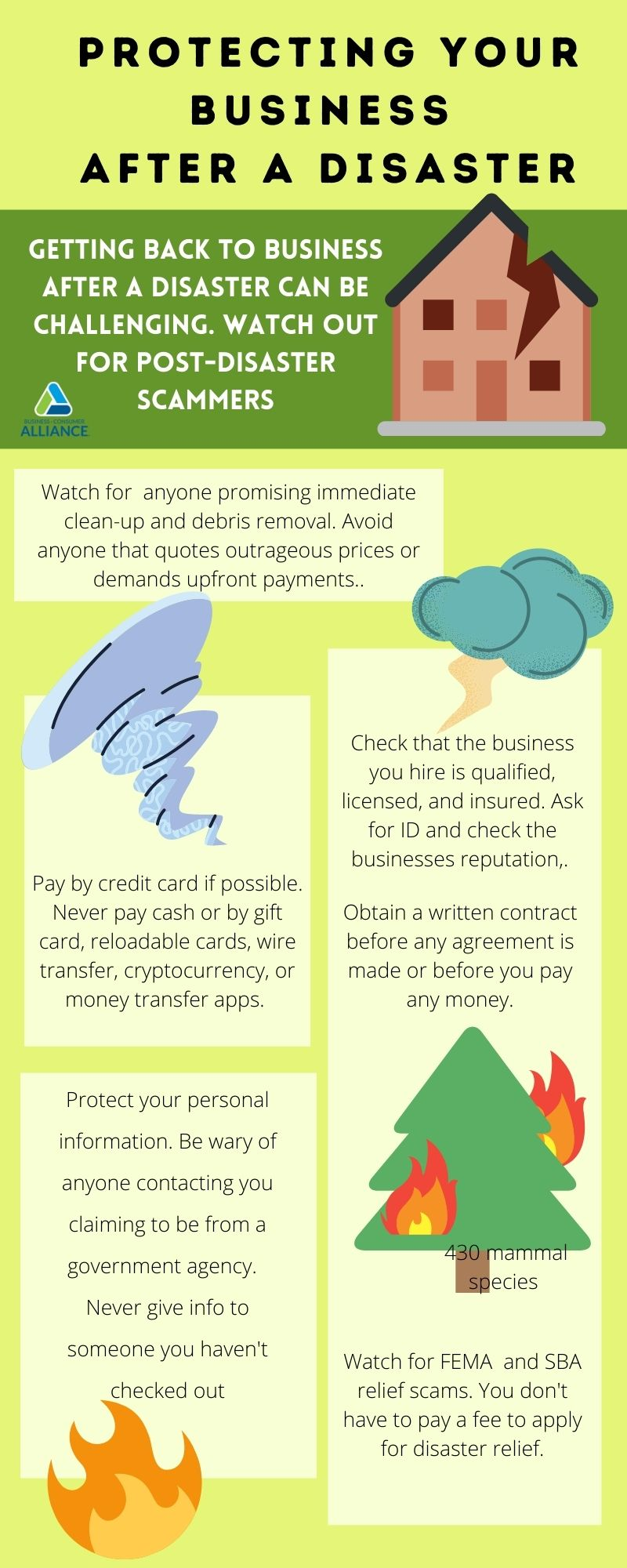 protecting your business after a natural disaster infographic