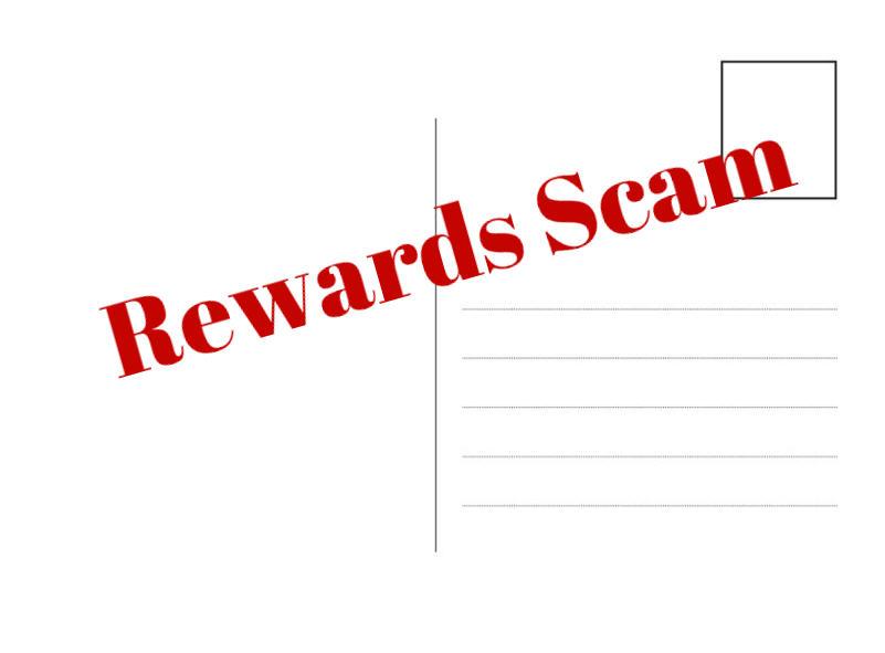 scam postcard