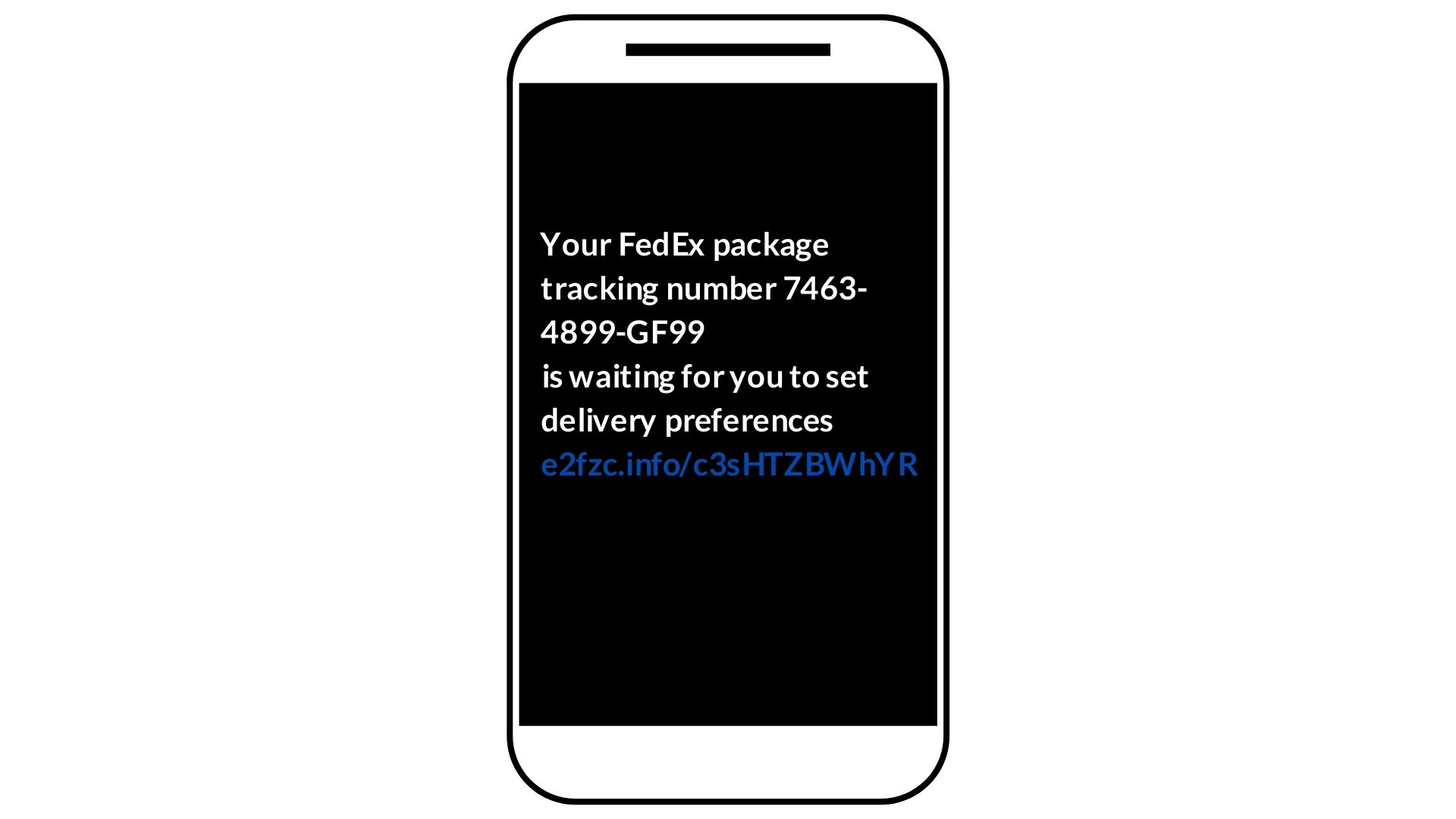tracking text scam